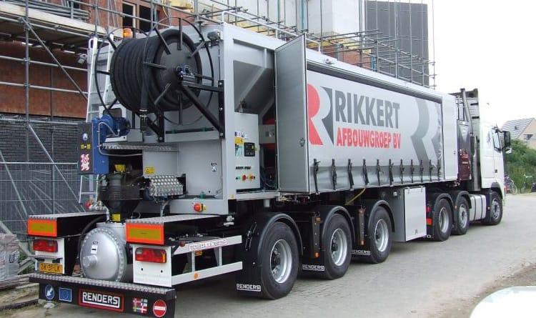 Afstandsbediening voor betonpompen