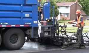 Slurry paver asfalt