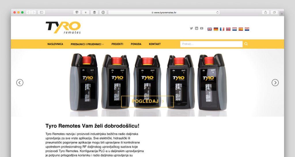 Kroatische website van Tyro Remotes