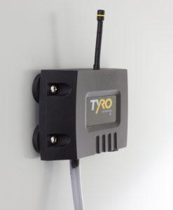 Radiografische ontvanger van Tyro bevestigd met magneten