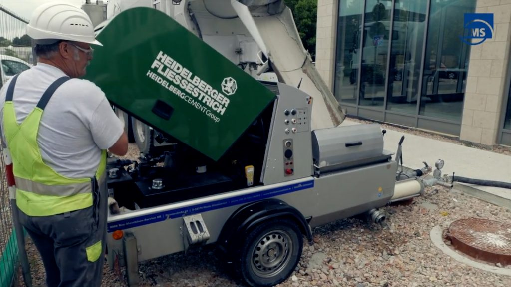 Betonmachine van BMS voorzien van afstandsbediening