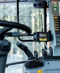 Scorpius in kabine tractor